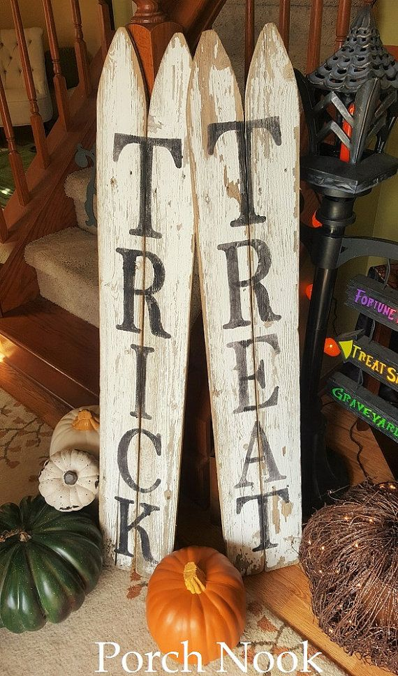 White Picket Fence Signs Stenciled Re-purposed Local by PorchNook