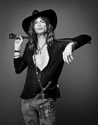 Steven Tyler    I desperately want to photograph him. He has the most interesting face. :)