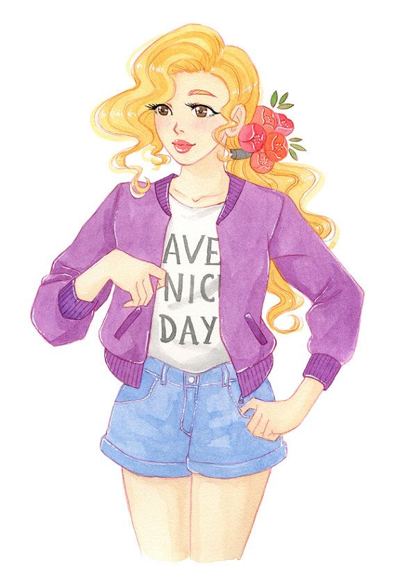 Have a nice day  watercolor print by milkyink on Etsy