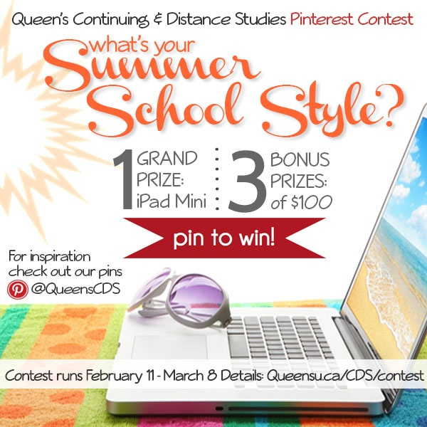 This is it: The Official CDS Summer School Contest Logo ~ Pin it to your entry! Details: http://queensu.ca/cds/contest