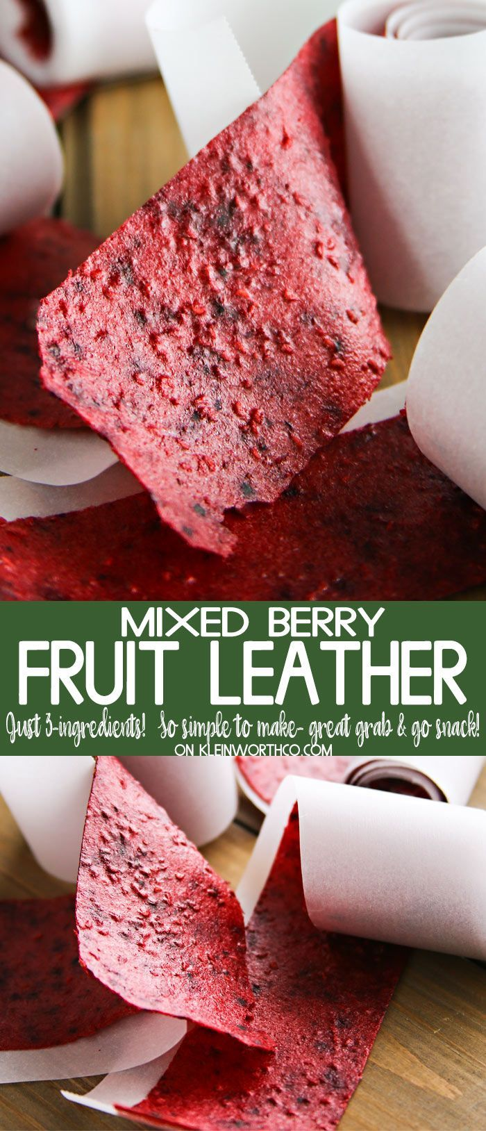 Mixed Berry Fruit Leather is simple to make with just 3 ingredients. Perfect for picnics, beach days road trips or back to school snacks. Easy & delicious! Mixed Berry Fruit Leather is simple to make with just 3 ingredients. Perfect for picnics, beach days road trips or back to school snacks. Easy & delicious! AD