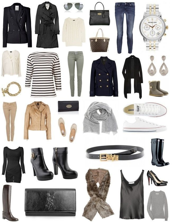 wardrobe basics- Like some of the items here but the idea ...
