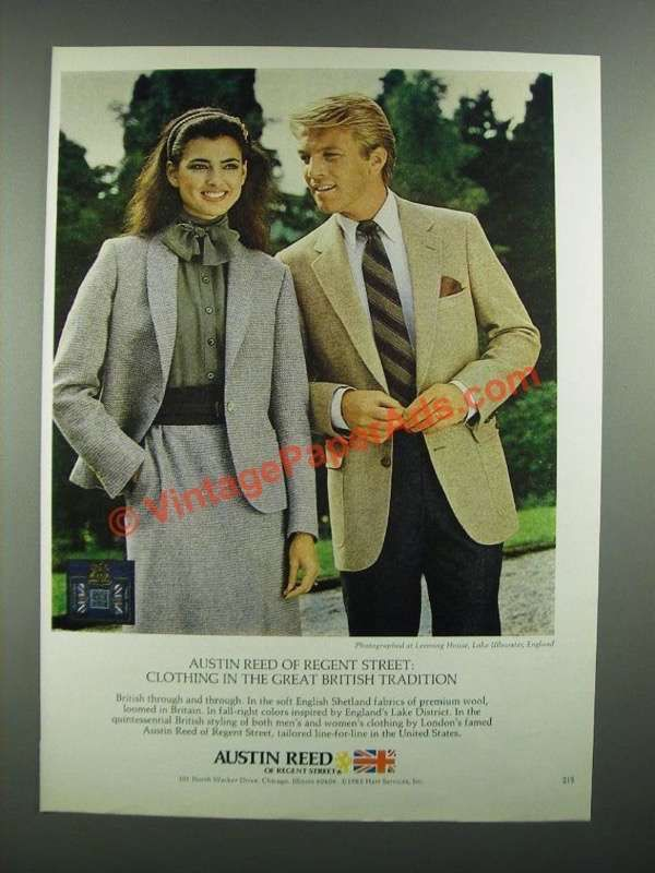 Ei0680 1982 Austin Reed Fashion Ad Clothing In The Great B British Traditions Fashion Womens Fashion Vintage