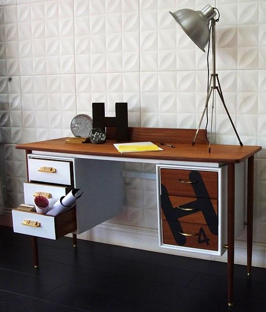 Scrabble inspired desk