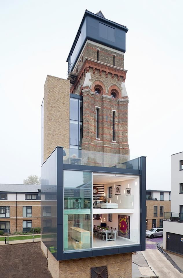 An imaginative transformation of an Old Water Tower into a Modern Home