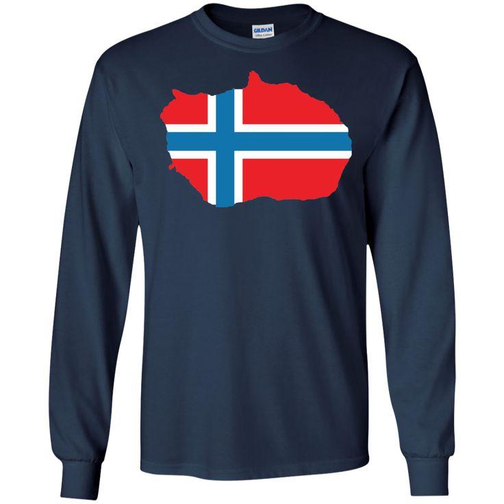bouvet island flag -01 LS Ultra Cotton Tshirt