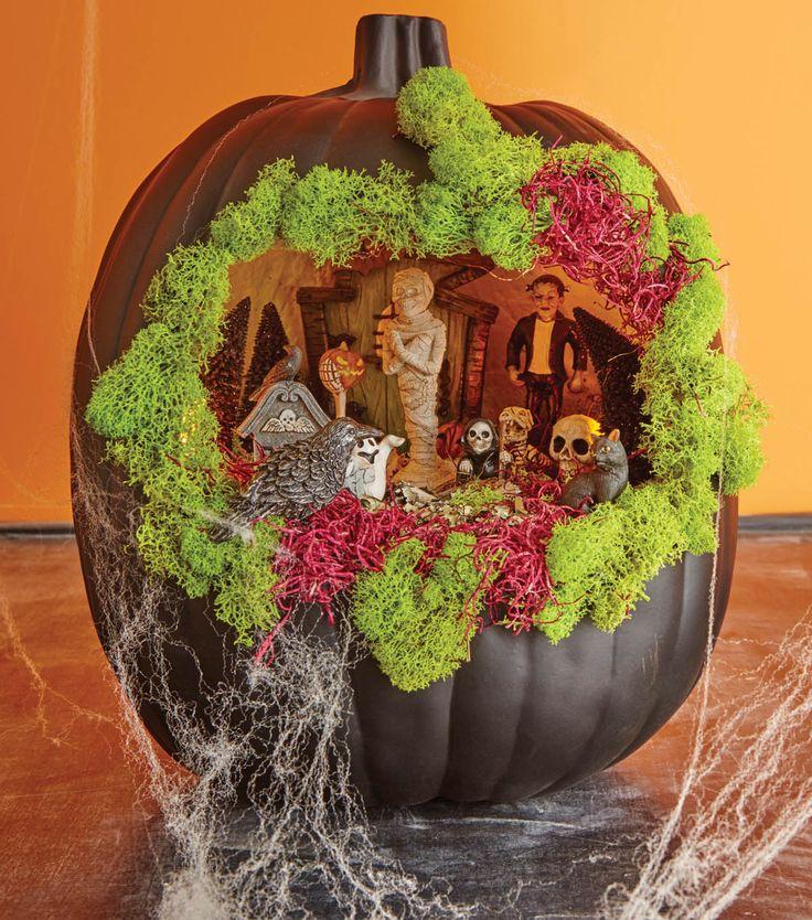 Black Pumpkin Fairy Garden Halloween With Joann Pinterest Black Pumpkin Fairy And Gardens