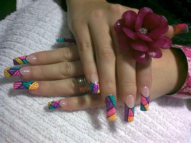 Técnica Brito by CynthiaACh - Nail Art Gallery nailartgallery.nailsmag.com by Nails Magazine www.nailsmag.com #nailart