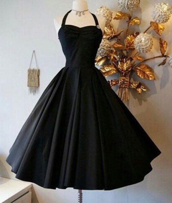 Cute Black Retro short prom gown, retro prom dresses, women fashion dress