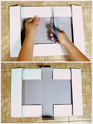 EcoScrapbook: Day 8 of 12 Days of Eco-Christmas: Turn a shirt box lid into a gift box