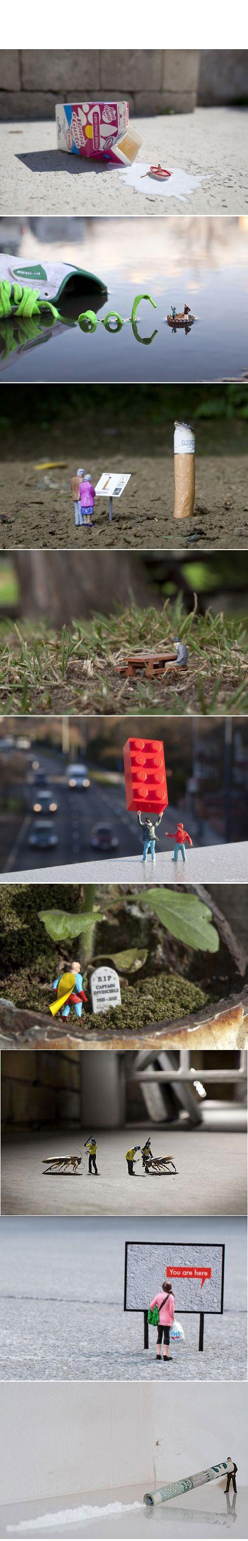 """""""Little People Project"""" Gallery by Slinkachu"""