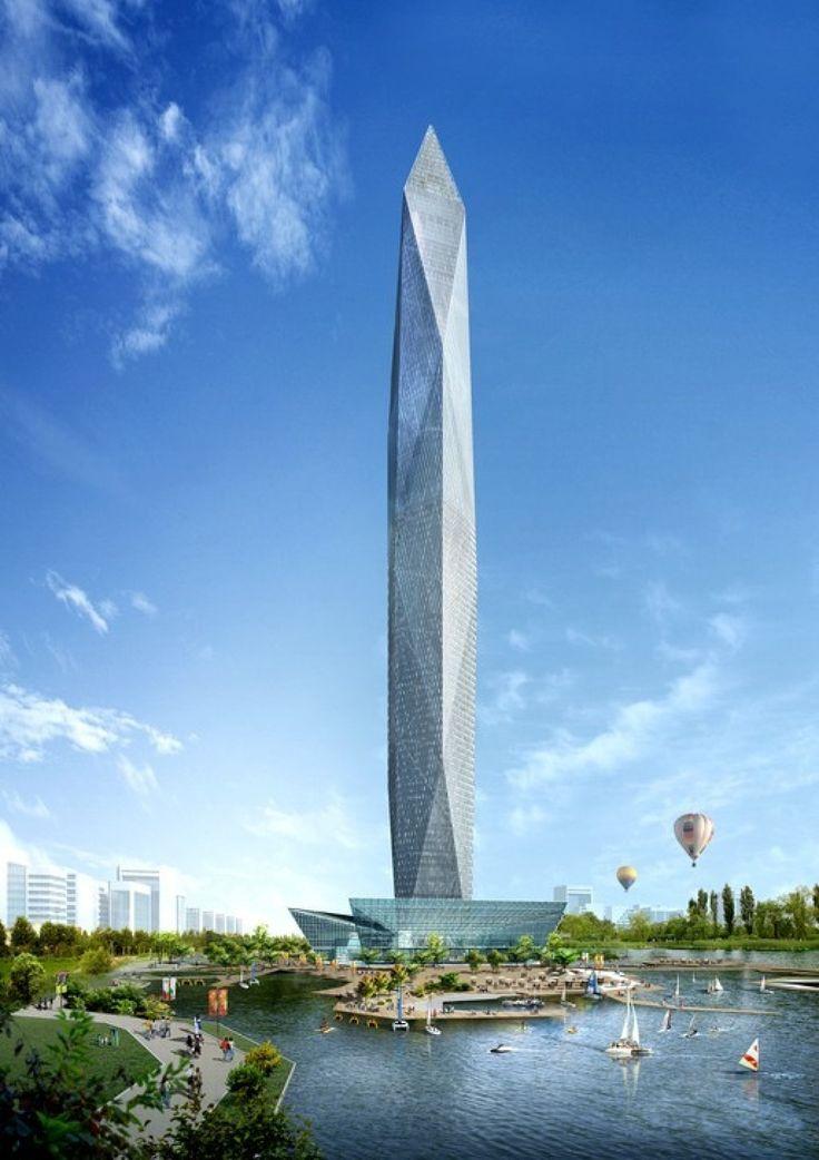 """Le gratte-ciel invisible """"Tower Infinity"""" va devenir réalité en Corée du Sud ! Conçu par le cabinet GDS Architects, il sera équipé d'une façade de LED et de caméras filmant en temps réel des images des environs, reflétées à leur tour à sa surface. #immobilier #insolite"""