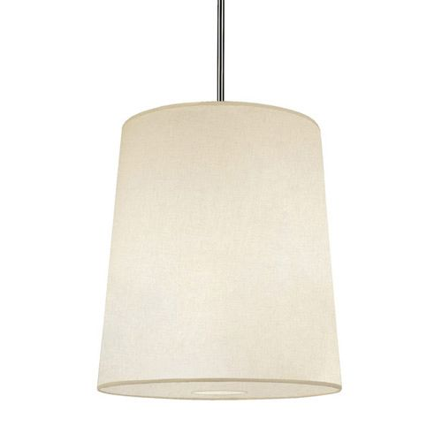 Buster Pendant features a Muslim Claiborne shade with a Deep Patina Bronze finish, Fondine shade with an Aged Brass finish, Smoke Grey shade with an Aged Brass finish, Fondine shade with a Polished Nickel finish, or Taupe Claiborne shade with a Polished Nickel finish.   Comes with a bottom diffuser, 10 feet of cord, and one 6 inch and three 12 inch rods. One 100 watt, 120 volt A19 type Medium base incandescent bulb is required, but not included. UL listed. 22 inch width x 24 inch height x…