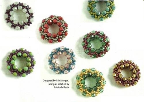 Weave Bead Rings PATTERN all examples are from the same pattern, different beads