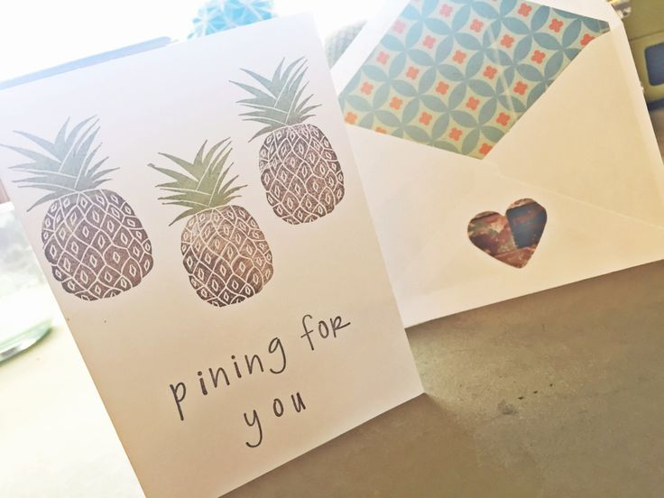 Pining For You Love Card I Love You Card Blank by SweetThymeDesign