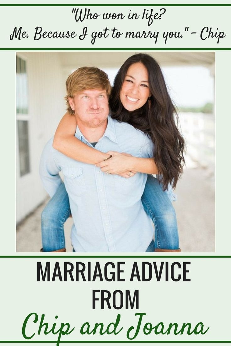 Marriage Recommendation from Chip and Joanna Gaines