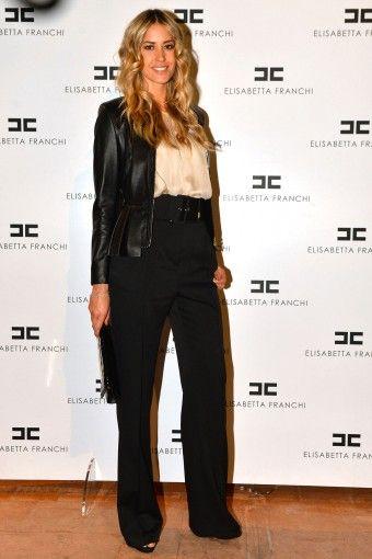 Elena #Santarelli #party #presentation #SS14 #MILANO #ITALIA #shirt #trousers #ELISABETTAFRANCHI #FW13