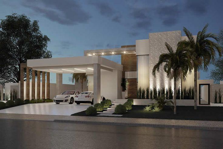 Projeto de casa para terrenos grandes – Plantas, Modelos de Casas, Mansões e Fachadas   – Exteriores