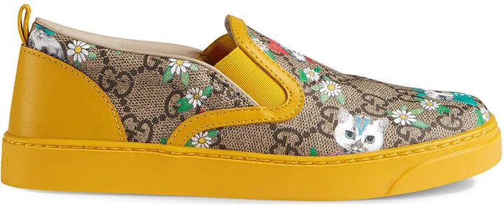 Gucci Kids Children's GG Gucci pets and flowers sneaker          #children #Gucci #kids #ShopStyle #MyShopStyle click link for more information