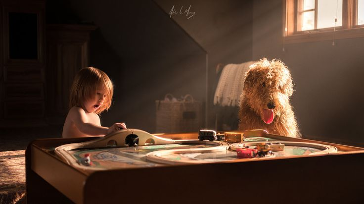 Train Conductor and his Pup by Adrian C. Murray on 500px
