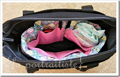 Diaper Bag Roll Tutorial: If you use heavier fabric, like canvas/home decor, you do not need batting or interfacing for this project!  Just skip the batting and interfacing steps