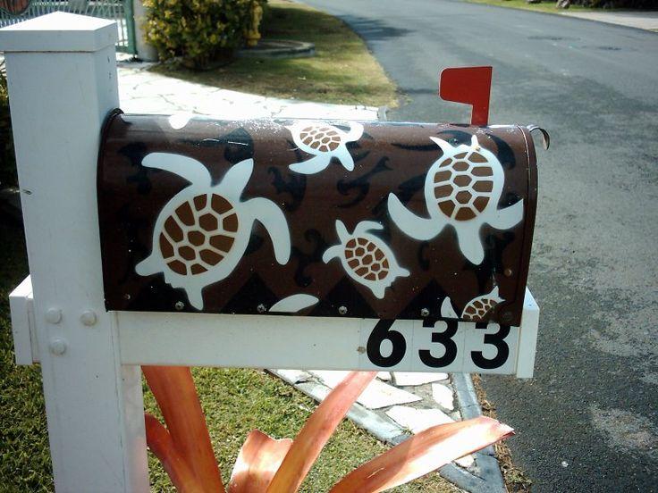 Oahu Kailua Sea Turtle Mailbox