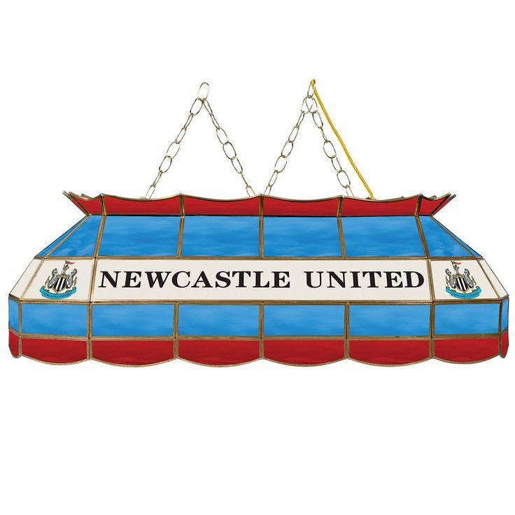 Newcastle United FC Hanging Tiffany Bar Lamp, Blue