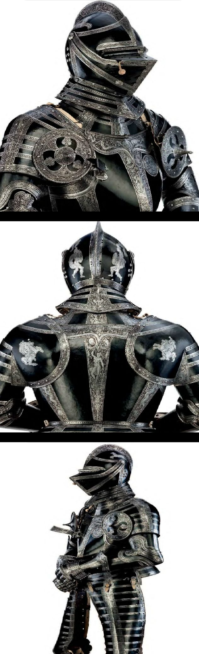 "An exceptionally fine and rare north German field armour with etched decoration, from the Armoury of ""JULIUS DUKE OF BRUNSWICK-WOLFENBUTTEL"", Brunswick, ca. 1560. (PF)"