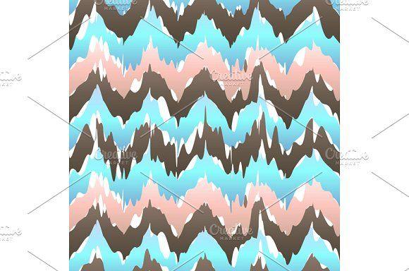 Ikat geometric seamless pattern by Rommeo79 on @creativemarket