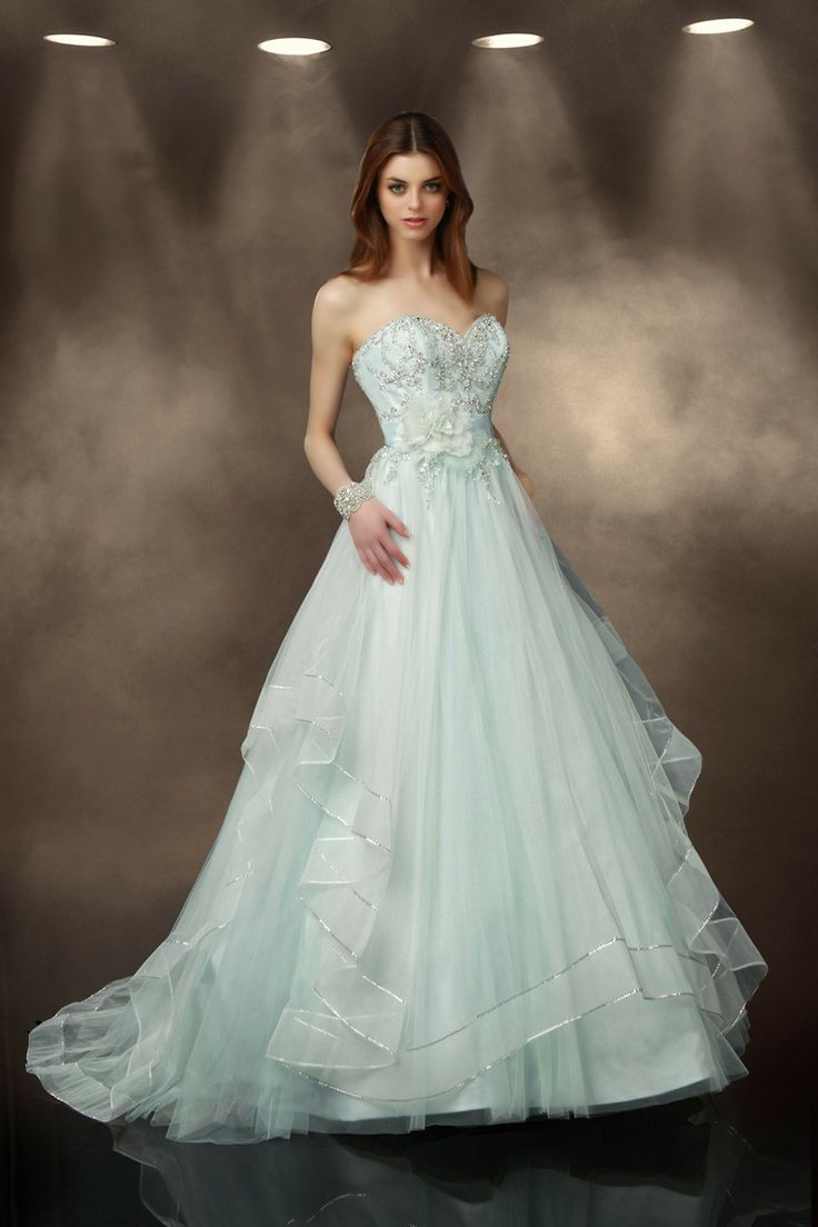 A whole new meaning to your #somethingblue  - how about a blue wedding dress? I Style #10187	 I @impressionbridal