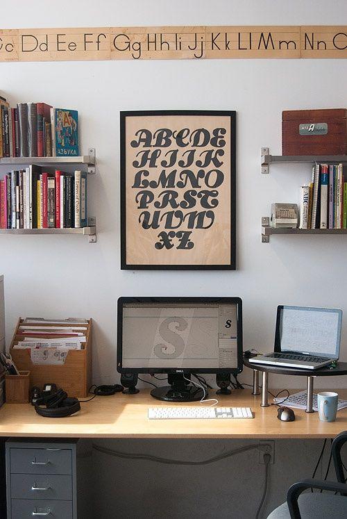 Harry's work space