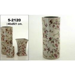 Parag ero cer mica blanco cl sico redondo flores for Muebles y decoracion online
