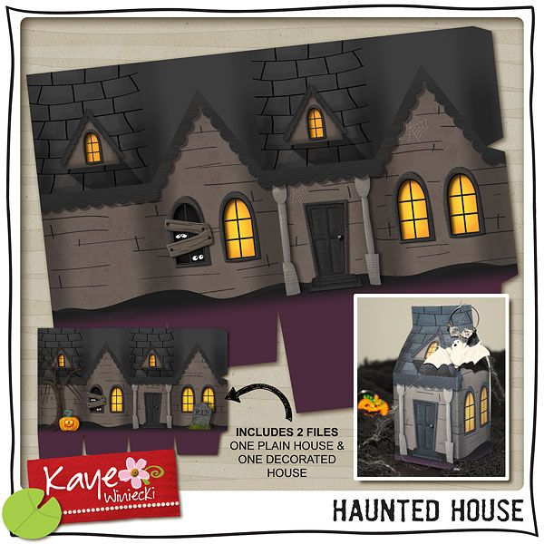 274 best Cards   Halloween Houses, Trees & Fences images on