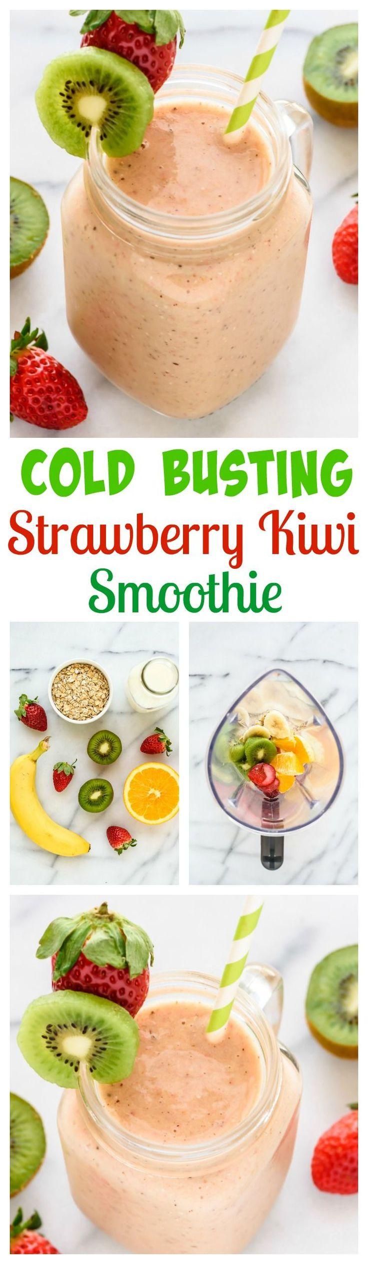 how to make strawberry and kiwi smoothie