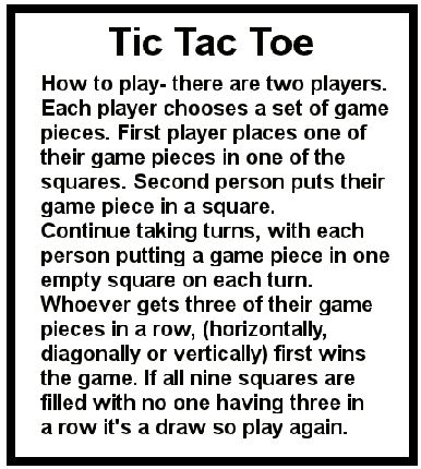 142 best Tic Tac Toe Game Printables images on Pinterest