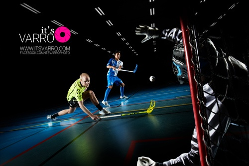 Floorball players