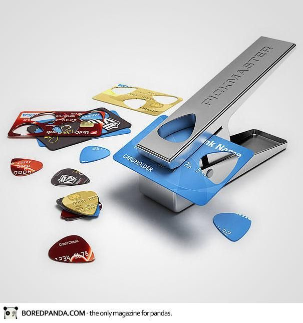 Turn old credit cards into guitar picks!