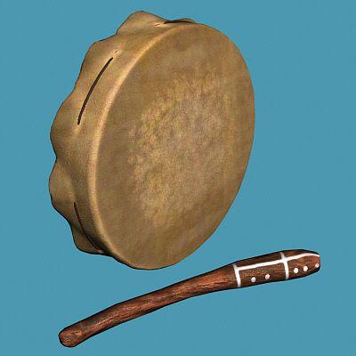 BUBEN : pandereta de entre 20 y 40 cm de diámetro. Es un instrumento de mano con un marco de madera redondo y una membrana de piel. Discos de metal llamados sonajas se insertan alrededor de todo el marco.Al golpear la piel o el marco de la pandereta o sacudiéndolo, se hace sonar las sonajas.