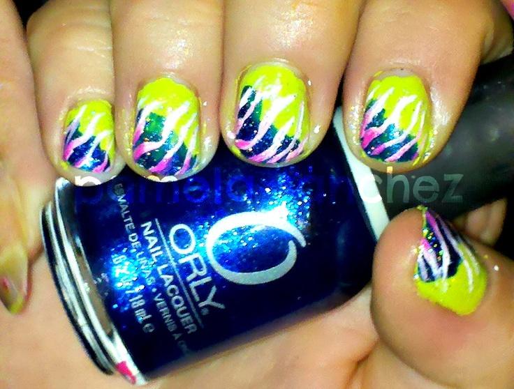 Gatita's nail art: Robin Moses inspired zebra nails-2 Disenios inspirados por Robin Moses de Youtube