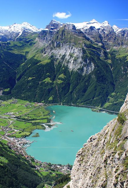 Lake Lucerne is a lake in central Switzerland and the fourth largest in the country.   The lake has a complicated shape, with bends an...