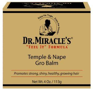 Dr Miracle Temple And Nape Gro Balm - Case Pack 12 SKU-PAS816224 by DDI. $1211.93. Allof theproductsshowcased throughoutare100%OriginalBrand Names.. 100% SATISFACTION GUARANTEED. Please refer to the title for the exact description of the item. Dr Miracle Temple And Nape Gro Balm. Now with natural wheat protein, Vitamins A & D and Aloe Vera for healthy hair growth, especially in the delicate temple and nape areas. 4 oz.