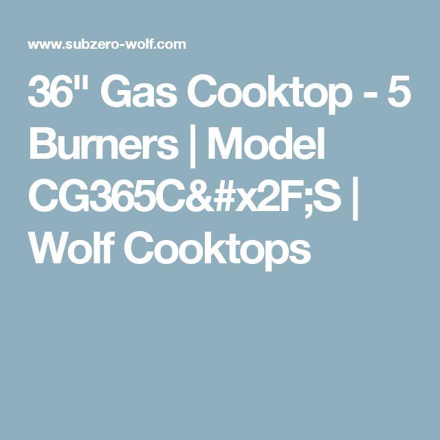 "36"" Gas Cooktop - 5 Burners | Model CG365C/S | Wolf Cooktops"