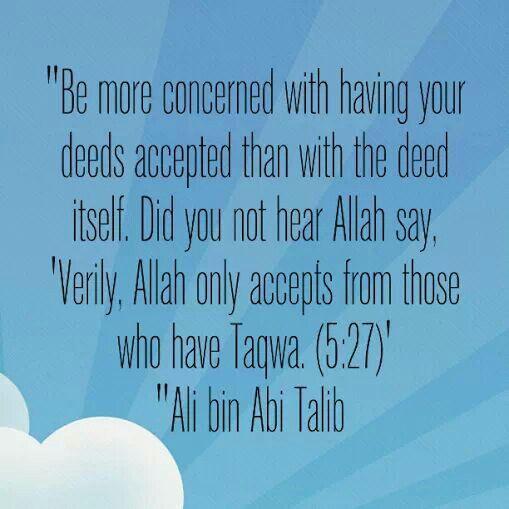 Deeds - Islam | Quran | Hadith | Ahlulbayt | Sunnah