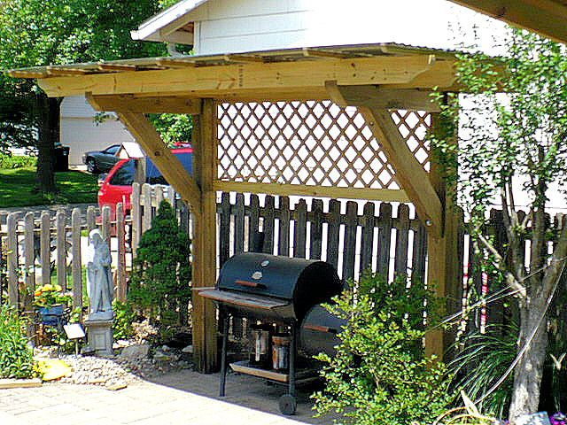 "Grill pergola | PERGOLA ""Plus"" for my Charcoal Grill - by FJPetruso @ LumberJocks.com ..."