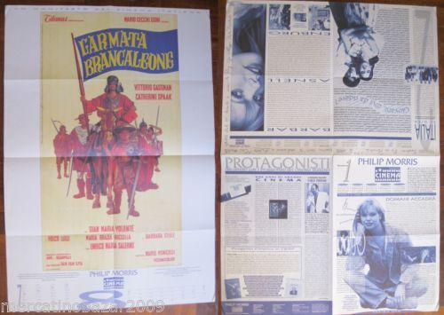 LARMATA-BRANCALEONE-1966-Philip-Morris-Progetto-Cinema-1993-LOCANDINA-80-X-55