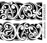 maori ethnic tattoo fusion with ... | Shutterstock .eps vector #394326415