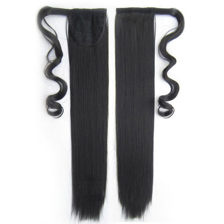 Soloowigs Yaki Straight High Temperature Fiber 22inches Women Ponytails With Velcro Straps