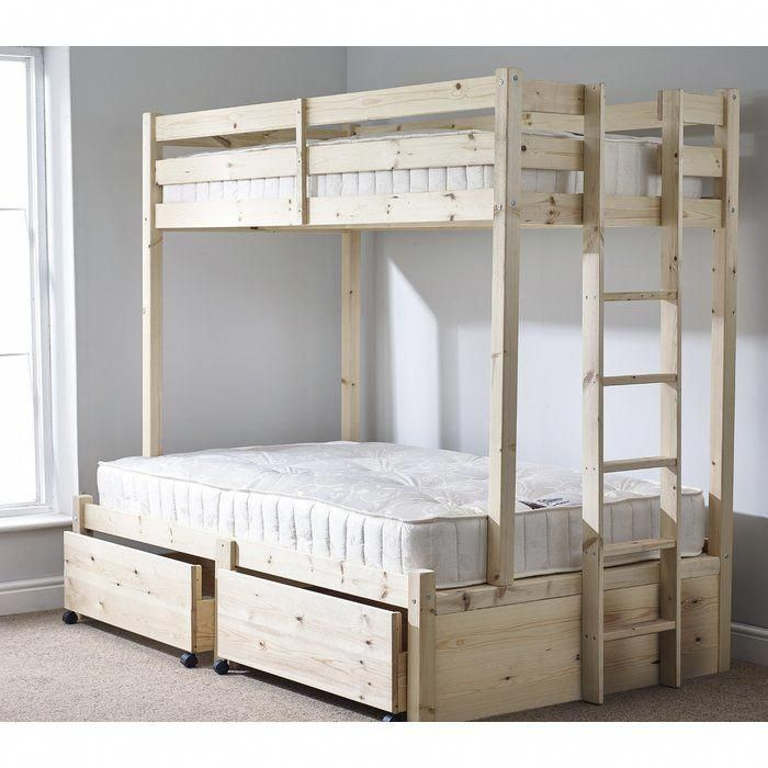 Emmett Double 120 X 200cm Bunk Bed Holiday Cool Bunk Beds Single Bunk Bed Bunk Beds