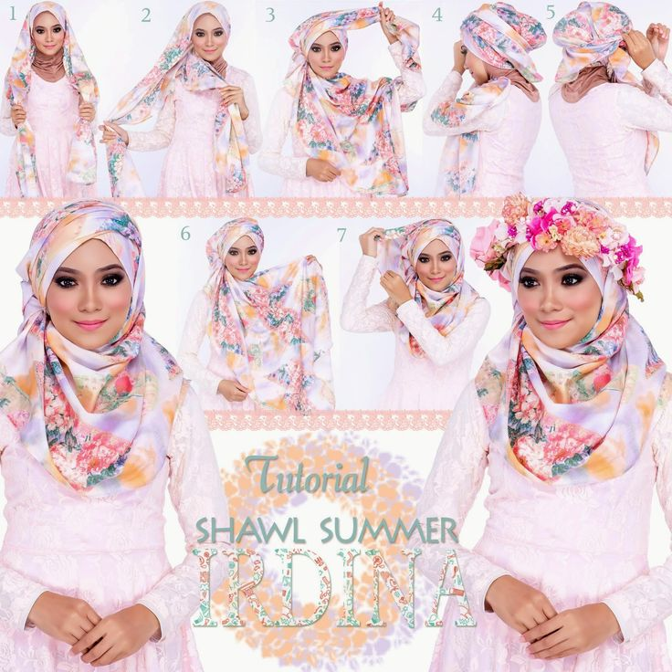 Lovely hijab style for this season, colorful and gives a soft look, enjoy the steps above and make your own one!