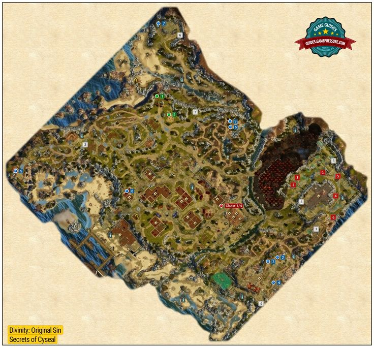 Map of Secrets in Cyseal -  Divinity: Original Sin